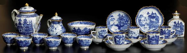 A tea and coffee set, China, Qing Dynasty