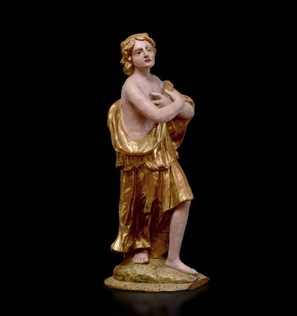 A wooden sculpture, Central Italy, 16-1700s