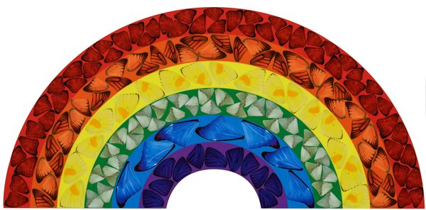 Damien Hirst (1965) Butterfly rainbow H7-2 (small), 2020