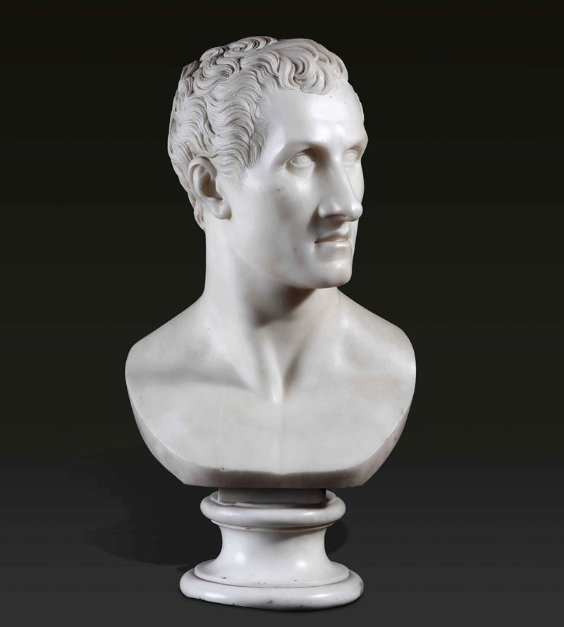 A marble bust of Canova, R. Trentanove, Rome, 1822  - Auction Sculpture and Works of Art - Cambi Casa d'Aste