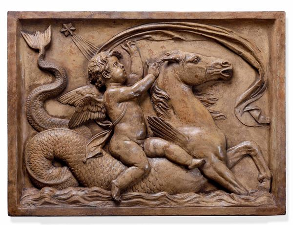 A terracotta relief, Italy, 1600s