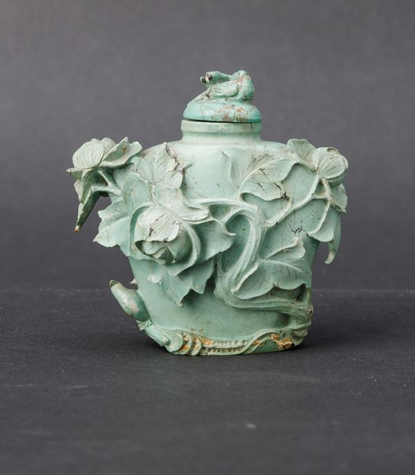 A turquoise snuff bottle, China, Qing Dynasty