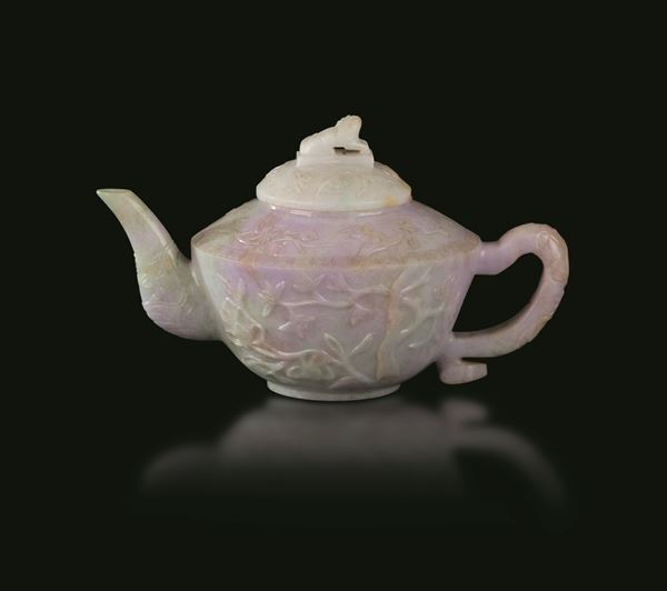 A jadeite teapot, China, Qing Dynasty